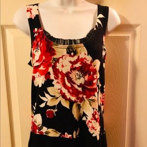 White House Black Market Floral Dress Tank